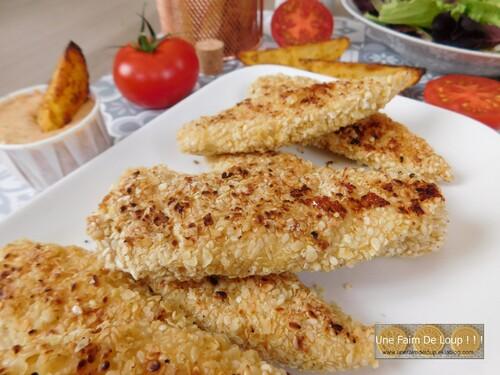 Nuggets de poulet au sésame & millet
