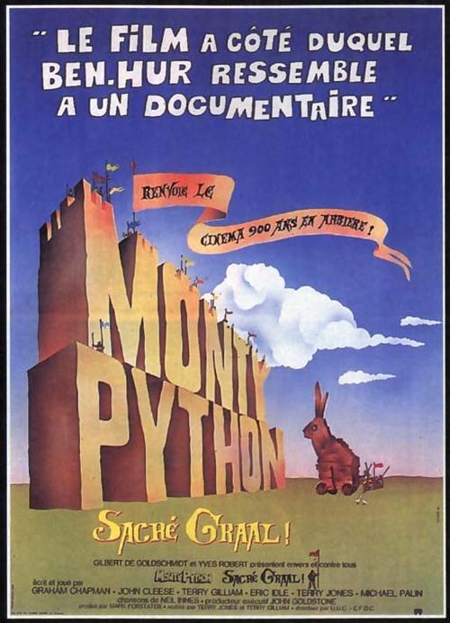 MONTY PYTHON SACRE GRAAL AFFICHE 1975
