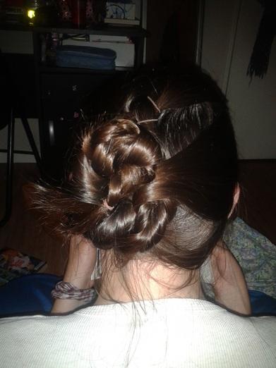 soirée coiffure avec une copine