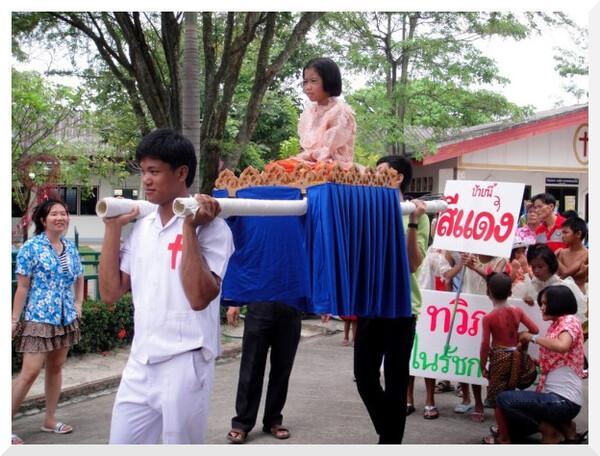 L'enfariné de Songkran
