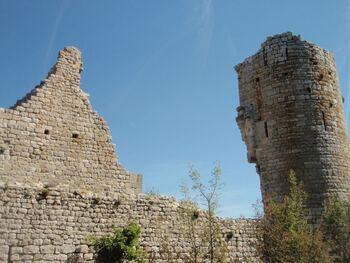 Les ruines du château St Jean