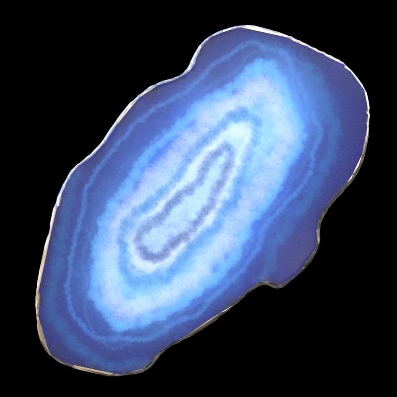 Tube : Pierre d'agate bleu (render)