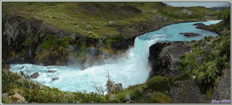 Salto Grande : arc-en-ciel - Parque Torres del Paine - Patagonie - Chili