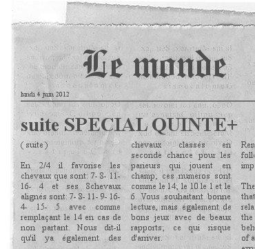 ARTICLE SUR SPCIAL QUINTE+  ( la suite )