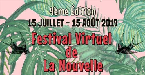 L'Affiche du Festival Virtuel de La Nouvelle 2019