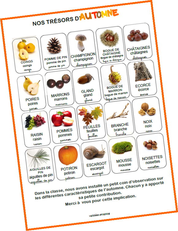 Maternelle page 2 valid es - Fruits automne maternelle ...