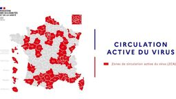 La carte de circulation active du 19 septembre.