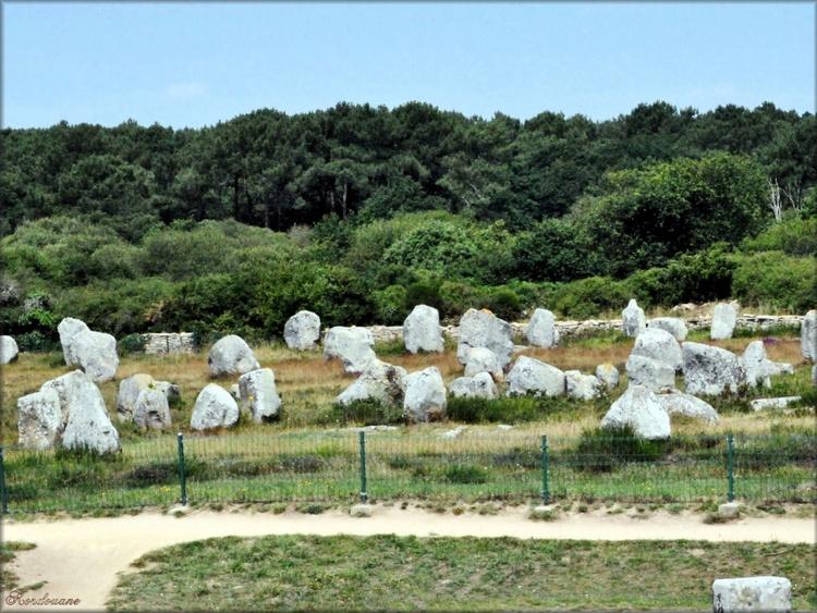 Photo des alignements de Carnac dans le Morbihan