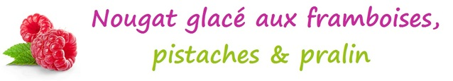 Nougat glacé aux framboises, pistaches & pralin