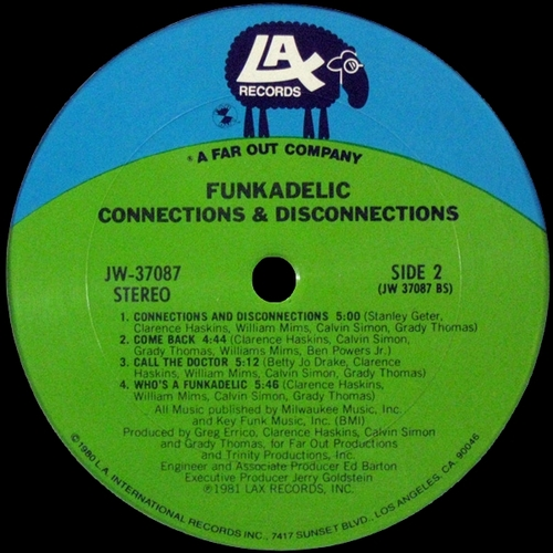 "Funkadelic : Album "" Connections & Disconnections "" LAX Records JW-37087 [ US ]"