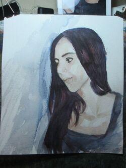 Pas à pas 'Rania' aquarelle
