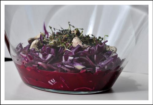 Salade de chou rouge (cru)
