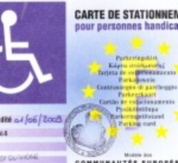 Carte européenne de stationnement (ex . GIC – GIG)