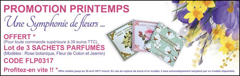 Le parfum de Grasse en Sachet avec Le Blanc (code promo)