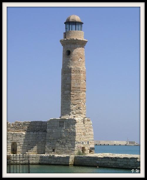 Crète : le phare de rethymnon