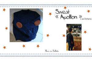 "Sweat ""Apollon"" pour homme, cousu avec le patron de I am Patterns"