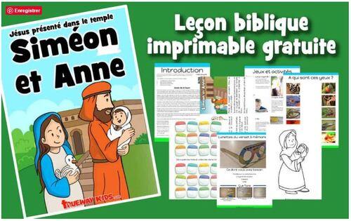 Présentation de Jésus au temple, Anne et Siméon