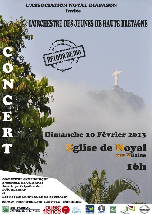 10/02/2013 : Orchestre des Jeunes de Haute Bretagne - Loïc BLEJEAN et les petits chanteurs de St Martin