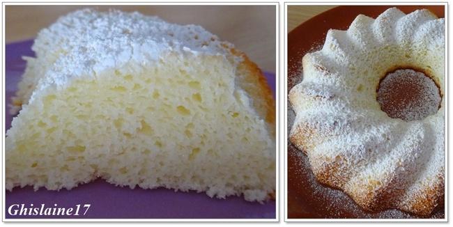 Gâteau Nuage au citron (blanc d'oeufs)