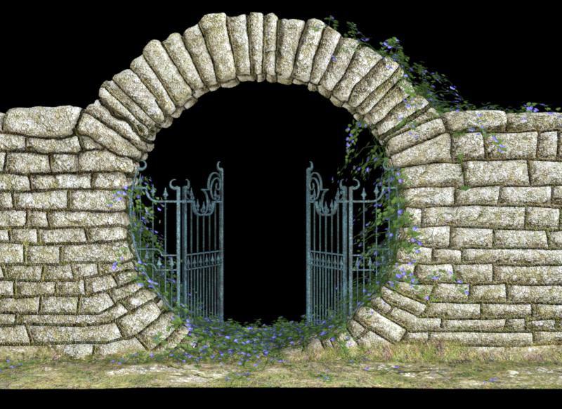 Tube de portail fantasy (render-image)