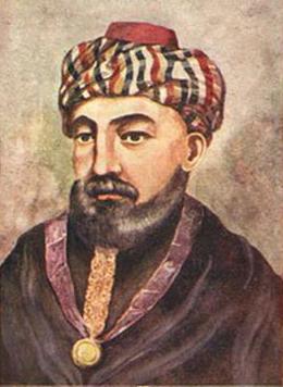 Hasdaï ibn Shaprut, ministre d'Abd al-Rahman III. L'agrandissement montre un aperçu de l'intérieur de Ben Ezra, la synagogue la plus ancienne du Caire.