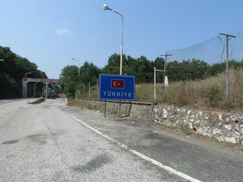 Arrivée à la frontière entre Bulgarie et Tirquie