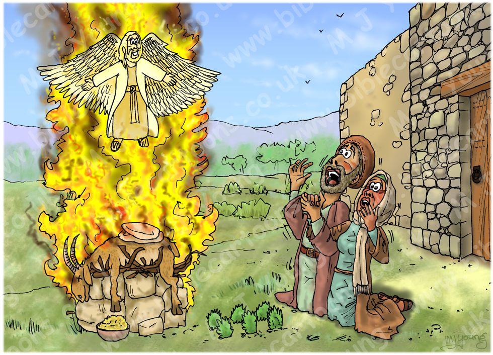 Les juges 13 - La naissance de Samson - Scène 03 - Un sacrifice enflammé 980x706px col.jpg