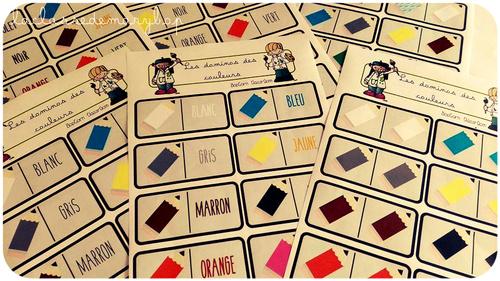 Les dominos des couleurs.