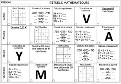 Rituels mathématiques