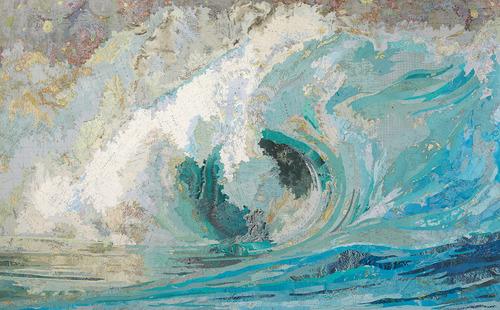 Les jolies vagues de Matthew Cusick