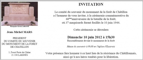 Commémoration au Monument de la Forêt