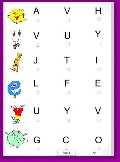 didapages pour apprendre les correspondances lettres capitales, scriptes ou cursives avec les alphas