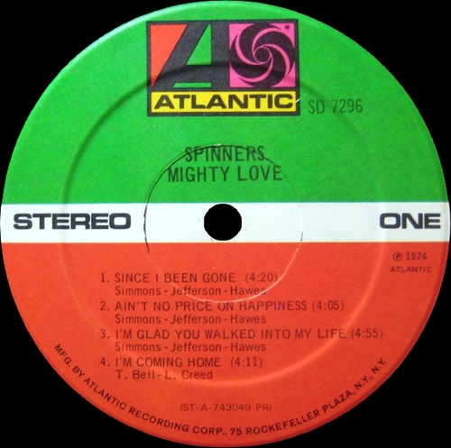 "The Spinners "" Mighty Love "" Atlantic Records SD 7296 [ US ]"