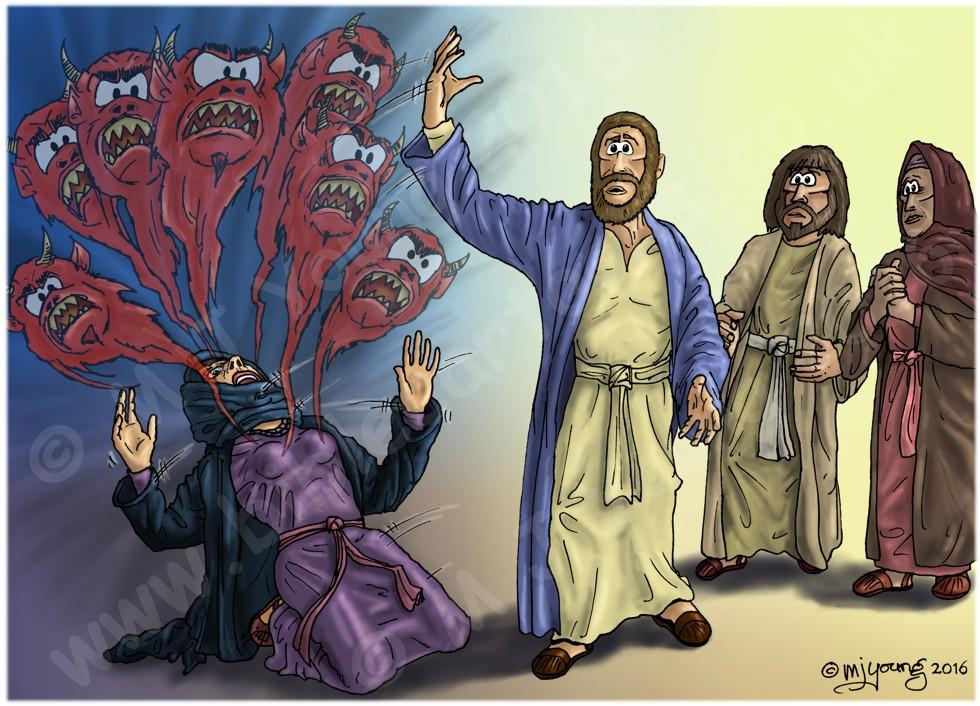 Mark 16 - Resurrection of Jesus - Scene 06 - Mary Magdalene (Daemon version)