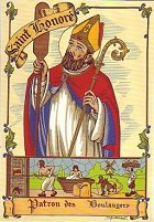 saint Honoré, patron des boulangers