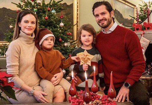 C.P. - Sofia de Suède et leurs enfants