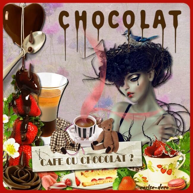 mes créations pour le défi chocolat chez babouchka