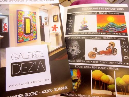 De l'atelier à la galerie Deza...