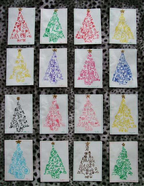 Des cartes de Noël à la façon de Jean Yves André