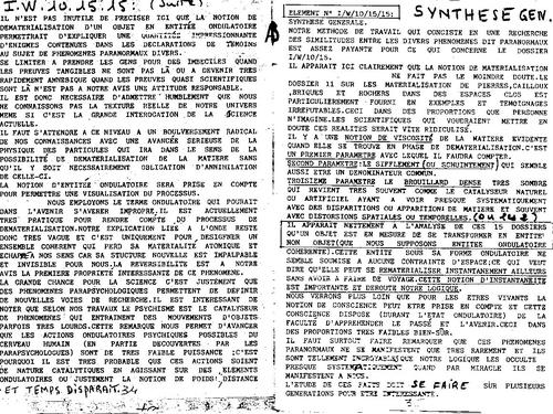 Microscope N°39 l'etat ondulatoire explique la majorité des phénomènes paranormaux