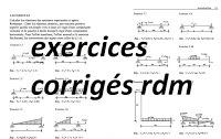 exercices avec correction rdm, rdm exercices corrigés flexion plane simple, exercices corrigés rdm génie civil, les exercice de rdm avec solution,