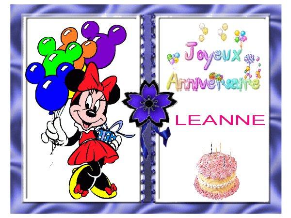 Joyeux anniversaire Léanne