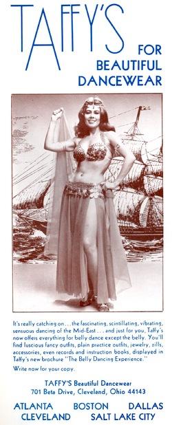 Taffy's beautiful dancewear (in Arabesqué January-February 1977)