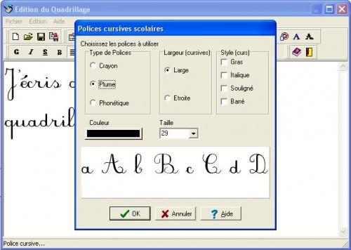 icône police cursive