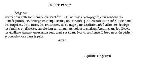 Prière du 24 mai