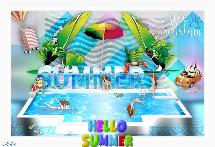 Summer -time de Renéegraphisme   psp