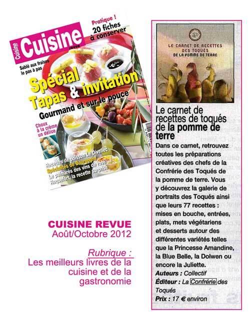 Le Carnet de recettes des Toqués à l'honneur dans CUISINE REVUE !