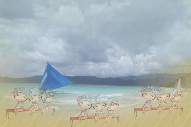 fond de blog et bannière : la baignade en été