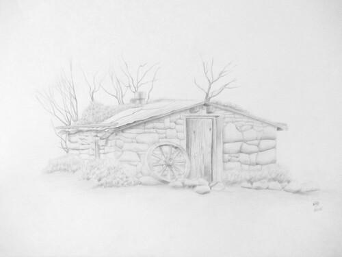 Paysage #1 : Maison en pierre