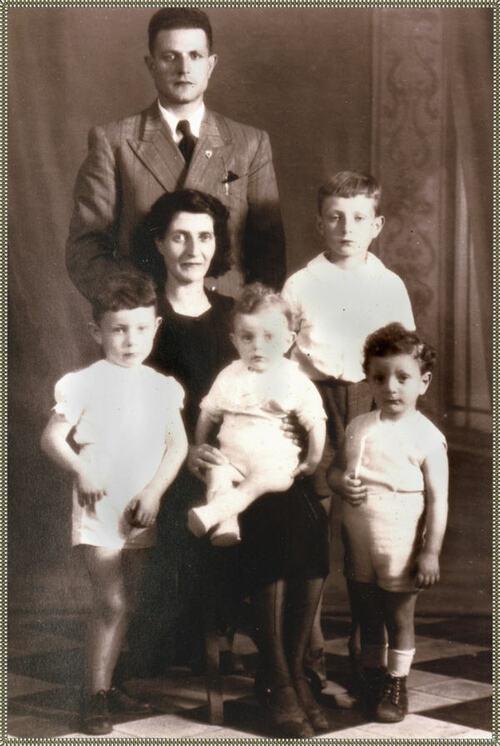 a famiglia Romani in 1942